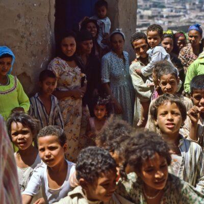 Gruppenbild nach dem Tee – Ägypten, Assuan – Mai 1984
