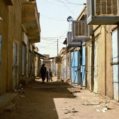 Kein Verkaufsladen ohne Air-Condition – Sudan, Omdurman – Mai 1984