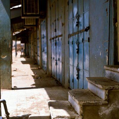 Mehrfach gesicherte Ladentüren – Sudan, Omdurman – Mai 1984