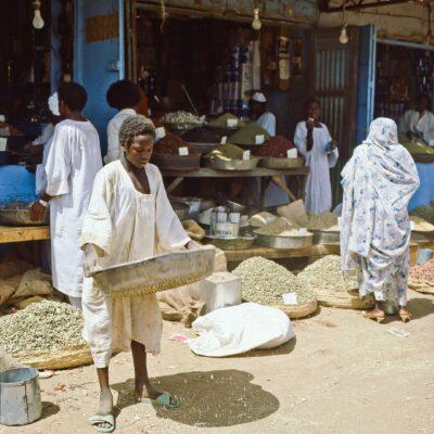 Getreide- und Gewürzemarkt – Sudan, Omdurman – Mai 1984