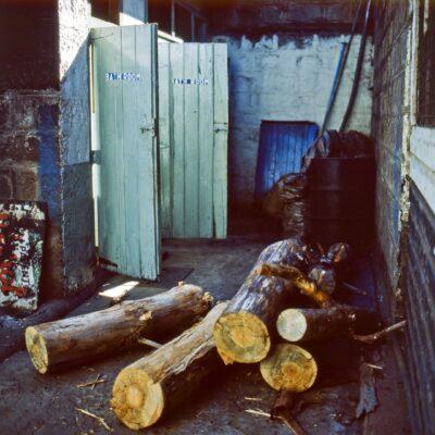 Holzbeheizte Duschen – Kenia, Nanyuki – Juni 1984
