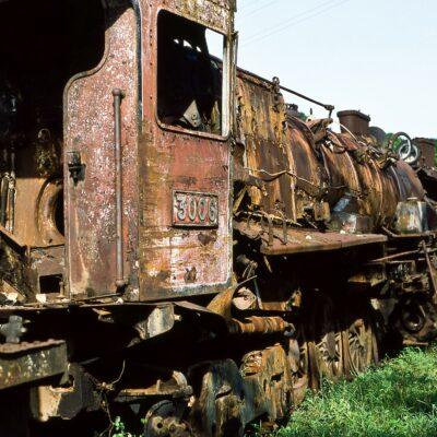 Verlassene Dampflokomotive – Tansania, Tanga – Juli 1984