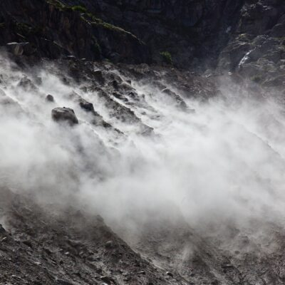 Weißer Moränen-Nebel – Morteratschgletscher – 1. Juli 2012