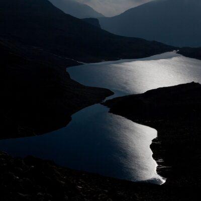 Mitternächtliches Mondlicht im See – Lej da la Pischa – 2. August 2012