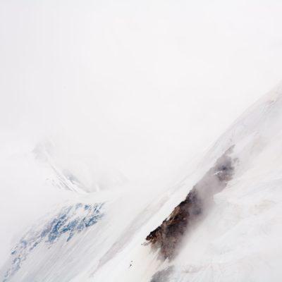 Bergkrete im Nebel - Lötschenlücke - 14. Juli 2009