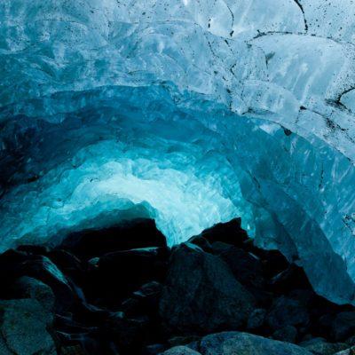 Lichtdurchflutete Eiswand - Morteratschgletscher - 19. September 2010