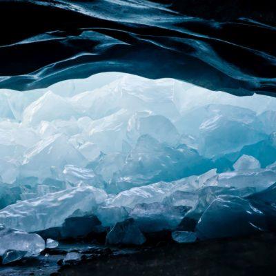Am Ausgang ein Eistrümmerberg - Morteratschgletscher - 6. März 2011
