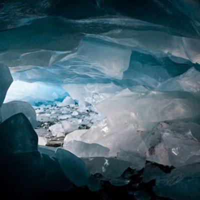 Mächtige Eisdecke - Morteratschgletscher - 6. März 2011