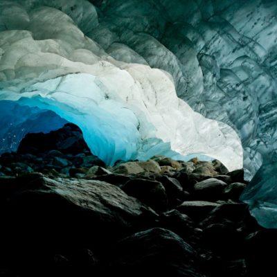Mächtiger Lichtfluss durchs Eis - Morteratschgletscher - 20. August 2011