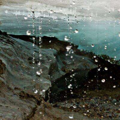 Eisdecke und Wasserperlenspiel – Silvrettagletscher – 13. August 2015
