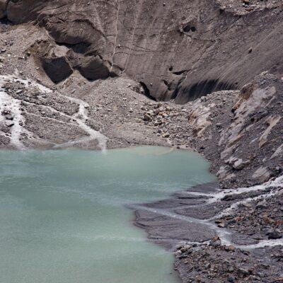 Gletscher trennt sich vom See – Roseggletscher – 31. Juli 2012