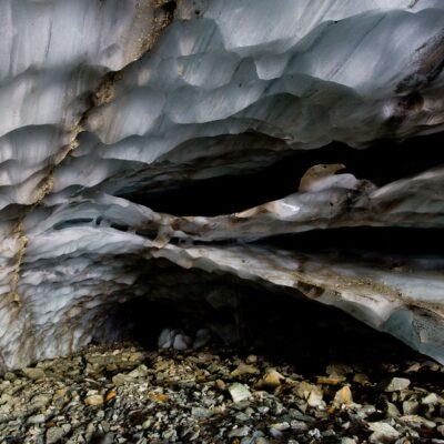 Eisdecke senkt sich schichtweise zum Grund – Langgletscher – 26. Juli 2019