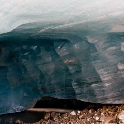 Blau-weiße Eisstreifen – Silvrettagletscher – 26. August 2007