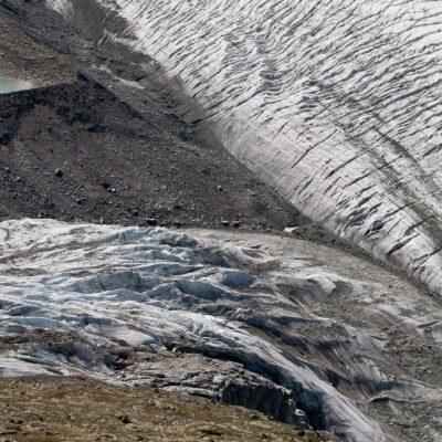 Zusammenfluss der Gletscher Pers und Morteratsch – Persgletscher – 10. August 2008