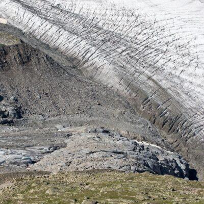 Zwei Gletscher haben sich getrennt – Persgletscher – 29. Juli 2019