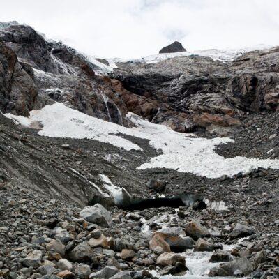 Höhleausgänge im Toteis – Roseggletscher – 16. August 2014