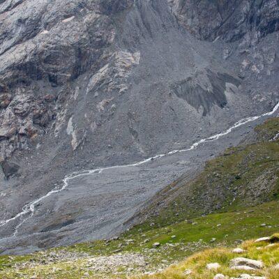Was vom Gletscher verblieb – Roseggletscher – 1. August 2018