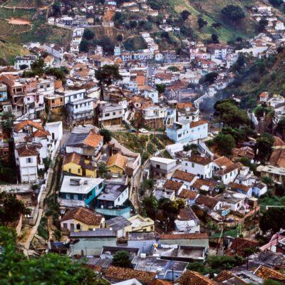Dörfliches Quartier von Santa Teresa – Brasilien, Rio de Janeiro – Oktober 1984