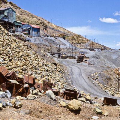 Bergbau-Infrastruktur am Cerro Rico – Bolivien, Potosi – November 1984