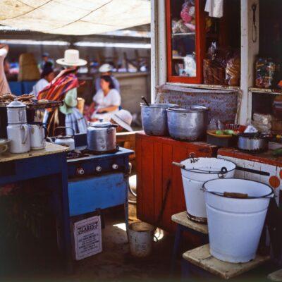 Api-Marktküche – Bolivien, Cochabamba – Dezember 1984