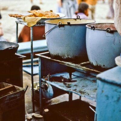 Api ist ein Traum eines heißen Getränks – Bolivien, La Paz – Dezember 1984