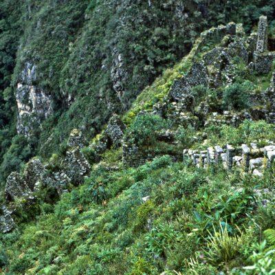 Verlassene Inka-Ruine – Peru, Inka-Trail, Wiñay Wayna – Januar 1985