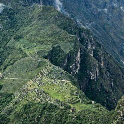 Sicht vom Gipfel Huayna Picchu – Peru, Machu Picchu – Januar 1985