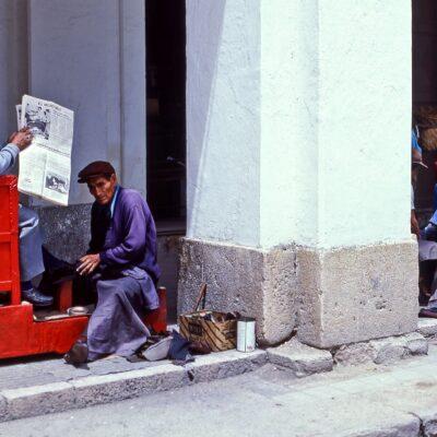 Der Kunde ist sichtbar König – Ecuador, Cuenca – Februar 1985