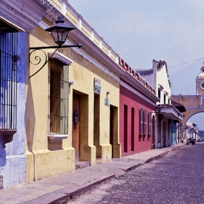 "Begehbarer Torbogen ""Santa Catalina"" – Guatemala, Antigua – April 1985"