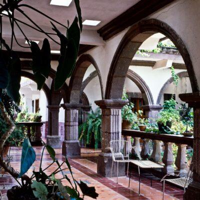Innenhof mit besonderer Atmosphäre – Mexiko, San Miguel de Allende – Juni 1985