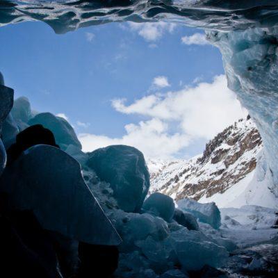 Überhängende Eiswand - Morteratschgletscher - 31. März 2013