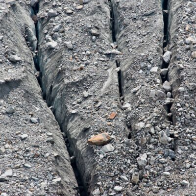 Gleichlaufende Spalten im Eis – Morteratschgletscher – 23. August 2015